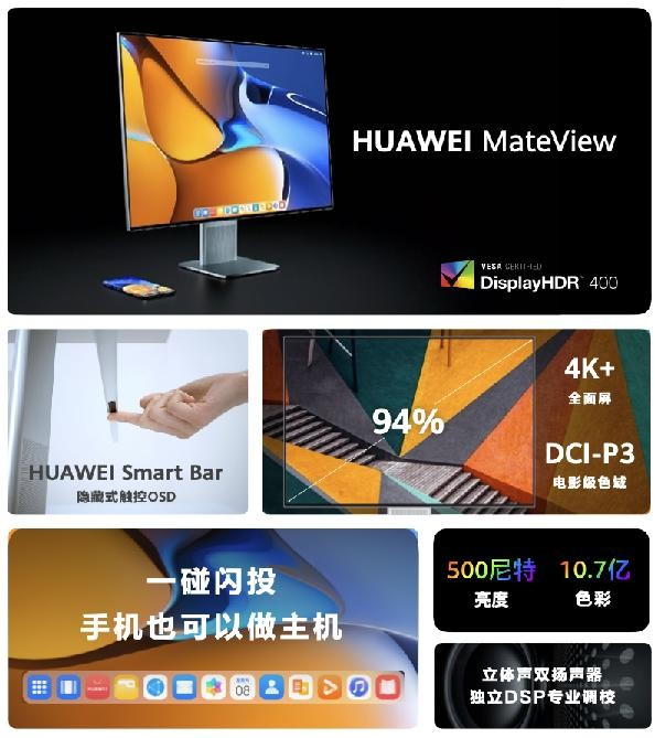 HarmonyOS 2 released, Huawei MateView unlocks a new experience of smart office